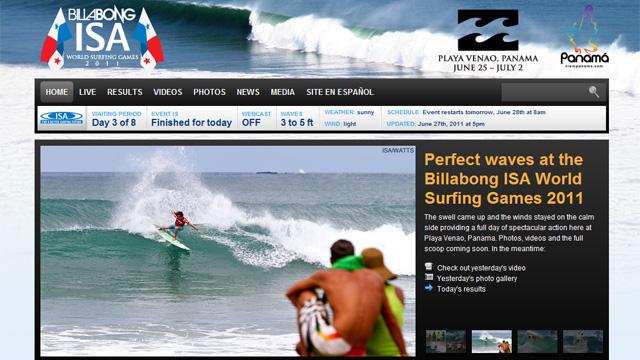 『ISA ビラボン ワールド サーフィンゲームス』
